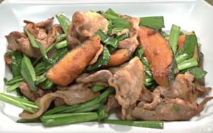 《きょうの料理》豚肉とかぼちゃのしょうゆ炒め(近藤幸子:調味料ひとつでパパッとおかず)