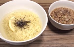 《鬼旨ラーメン》昆布水つけ麺(「ソラノイロ」店主の袋麺アレンジレシピ)