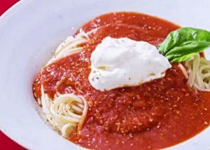 《きょうの料理》トマトソースとクリームチーズのスパゲッティ(松田美智子)