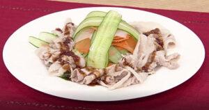 《きょうの料理》ゆで豚のピリ辛ソース(薄切り肉で10分おかず:陳建一)