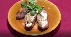 《きょうの料理》鶏もも肉のきのこペースト詰め(タサン志麻:秋の食卓~きのこ~)