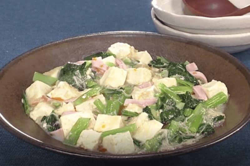 青菜と豆腐のとろみ炒め
