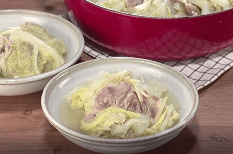 白菜と豚肉の重ね塩麹鍋