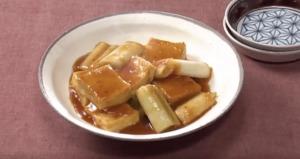 《きょうの料理ビギナーズ》ねぎと豆腐のうま煮(賢く使い切りサイズで冬野菜② 冬のねぎ)