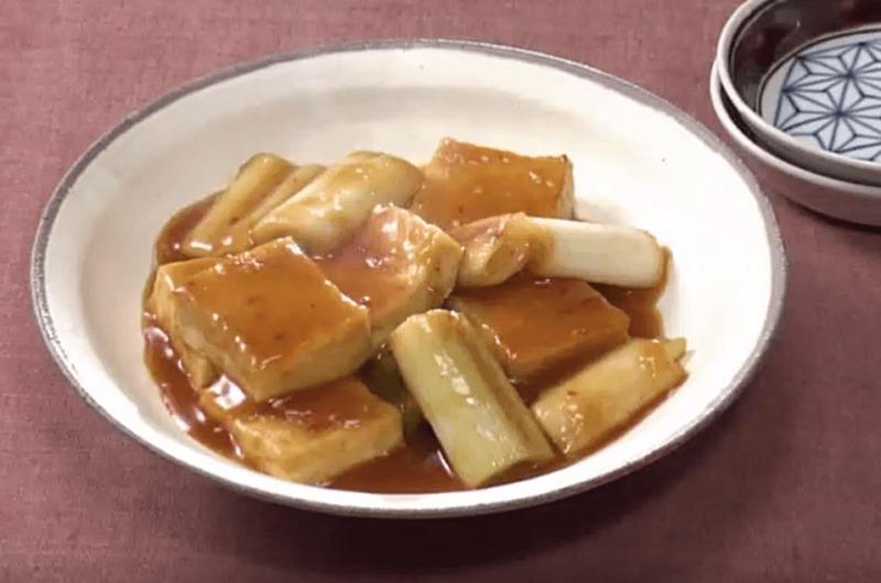 ねぎと豆腐のうま煮