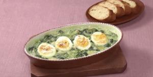 《きょうの料理ビギナーズ》ほうれんそうと卵のグラタン(賢く使い切りサイズで冬野菜③ ほうれんそう&...