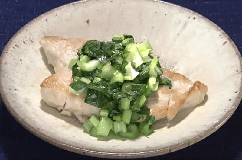 鶏むねソテー 小松菜ソース