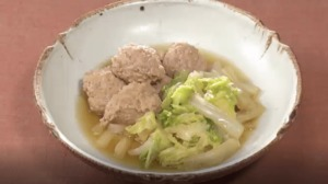 《きょうの料理ビギナーズ》白菜とつくねのクッタリ煮(賢く使い切りサイズで冬野菜⑤ 白菜)