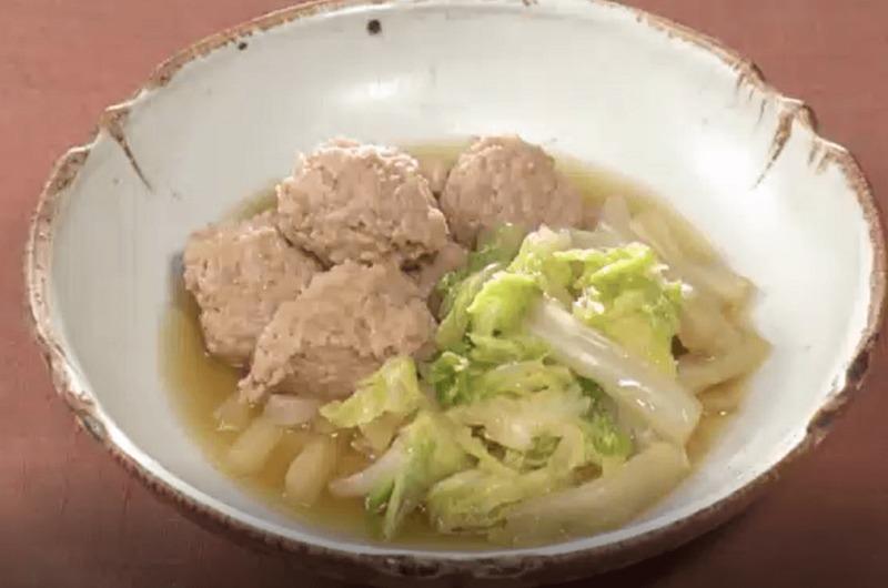 白菜とつくねのクッタリ煮