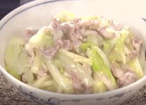 《news every.》白菜と豚肉の中華丼(幸せの中華レシピ:シャウ・ウェイ)