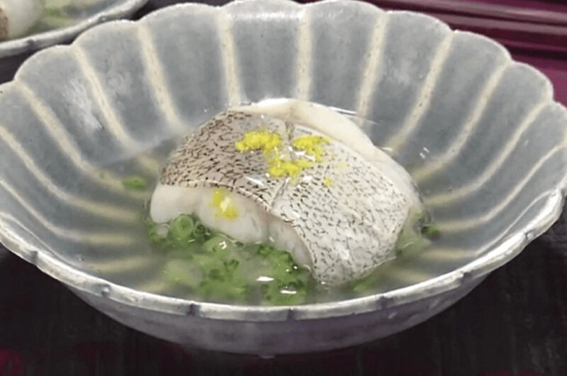 たらとブロッコリーの茶巾蒸し くずあんかけ