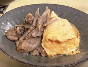《きょうの料理》かきの炊き込みご飯 卵のっけ(栗原はるみのおいしいのきっかけ)