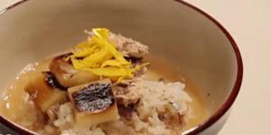《あさチャン》サバ缶と焼きねぎ 柚子の皮添え(10分で作れる!スープかけご飯:有賀薫)