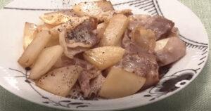 《おかずのクッキング》大根と豚バラ炒め(素材のレシピ・大根:土井善晴)