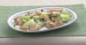 《きょうの料理》麩とチンゲンサイのピリ辛中華あん(ゆーママのラク盛りレシピ:松本有美)