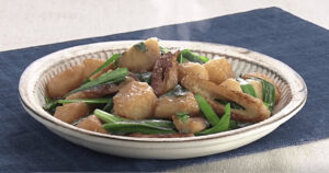 《きょうの料理》長芋とちくわの甘辛みそ炒め(ゆーママのラク盛りレシピ:松本有美)