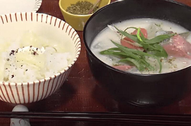 鮭の粕汁&ゆり根ごはん(荒木典子)