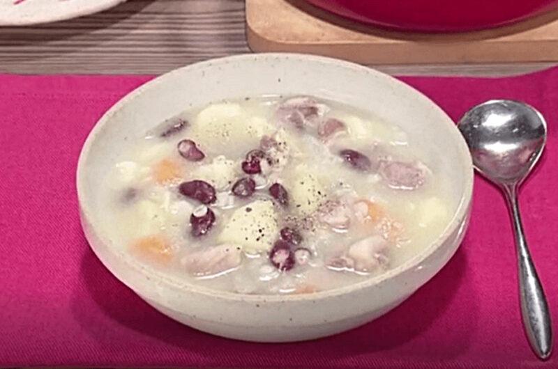 押し麦入り豚肉と野菜のスープ(田口成子)