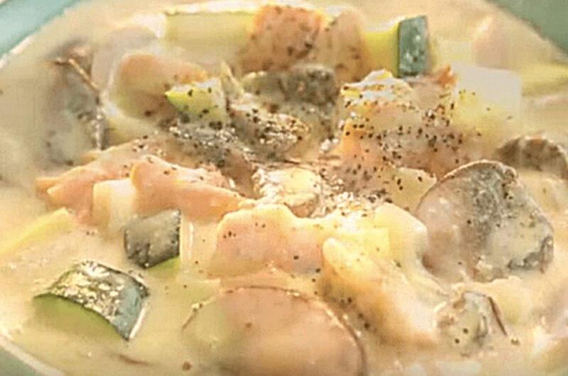 サーモンのレモンチーズスープ(Atsushi)