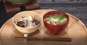 《キューピー3分クッキング》干し椎茸の炊き込みごはん&さば缶と長ねぎのみそ汁(一汁一飯:荒木典子)