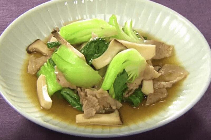 チンゲンサイと豚バラの炒め煮(体にやさしいおうち中華:シャキッと食べたい!青菜)