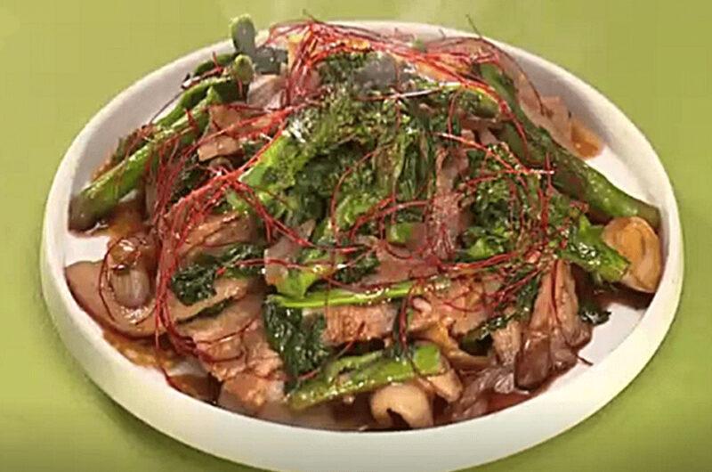 菜の花回鍋肉(笠原将弘)