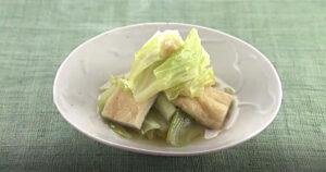 《きょうの料理》キャベツと油揚げのサッと煮(大原千鶴のお助けレシピ:かんたん10分煮物)