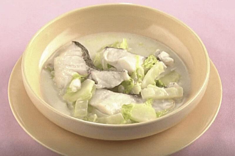 白菜と鱈のクリームスープ(小池浩司)