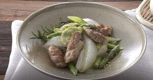 《きょうの料理》新たまねぎとチキンの春色マリネ(どい ちなつ:新たま・新じゃが 春おかず)