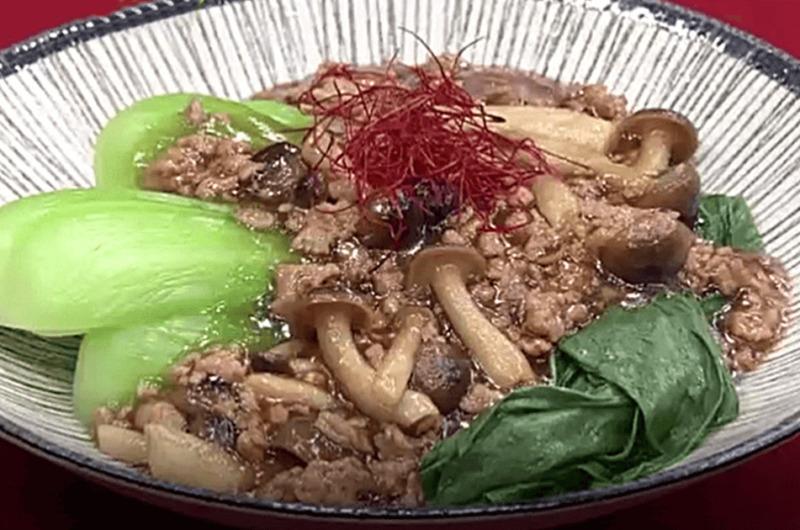 熱々チンゲンサイの肉あんかけ(検索きょうのおしゃレシピ)