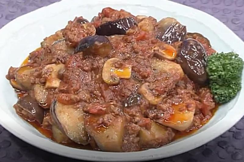 トマトベースの洋風麻婆ナス(検索きょうのおしゃレシピ)