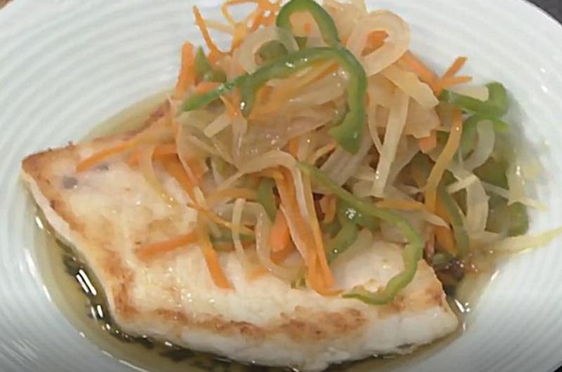 かじきのソテー たっぷり野菜(田口成子)