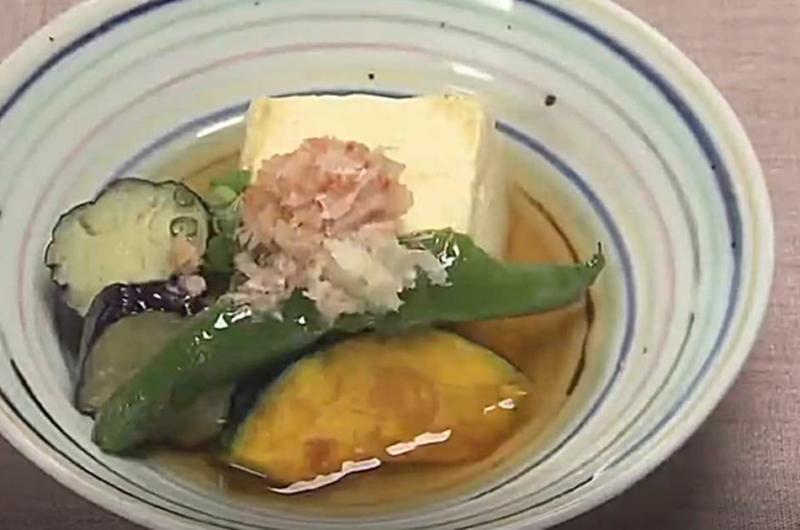 夏の揚げ出し豆腐(大原千鶴)