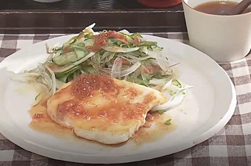 かじきのソテー 梅だれ(田口成子)