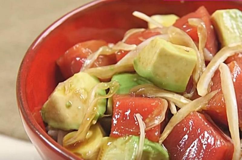 夏のさっぱりまぐろ丼(朝昼晩!3食献立作り:和田明日香)