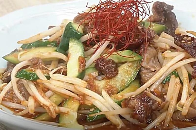 きゅうりと牛肉のまろやかコチュジャン炒め(検索きょうのおしゃレシピ)