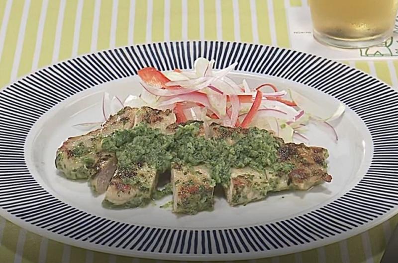 ポークソテー 香菜ソース(石原洋子)