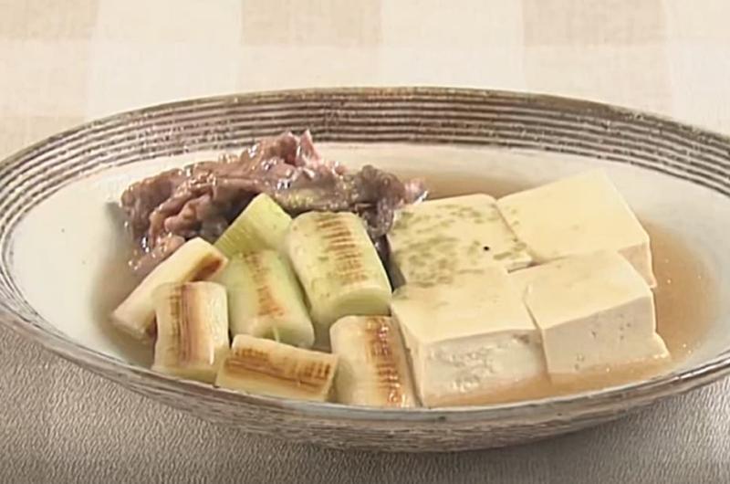 ねぎたっぷり肉豆腐(岡本健二)