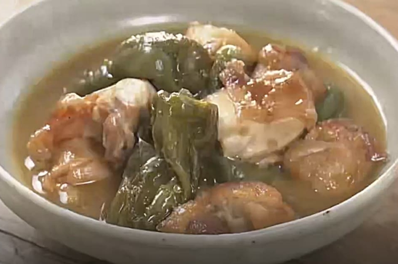 鶏肉とピーマンの丸ごとみそ煮(フードロスほぼゼロレシピ:コウケンテツ)