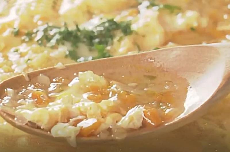 ソフリットのふんわり卵スープ(伯母直美)