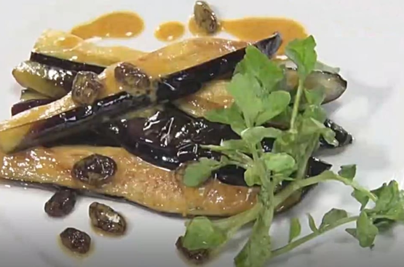 ナスのカレー風味のサラダ(秋なす!炒める派:水島弘史)