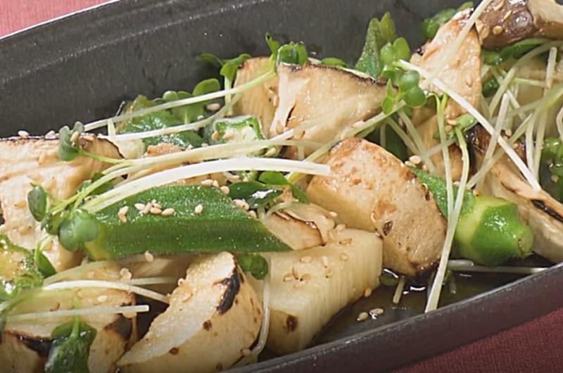長芋とオクラの和風サラダ(お店の味をおうちで楽しく⑥ たっぷり食べたい野菜おかずサラダ)