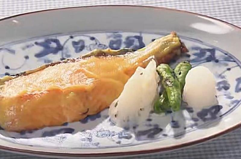 練り白味噌 & 鮭の即席西京焼き(柳原尚之)