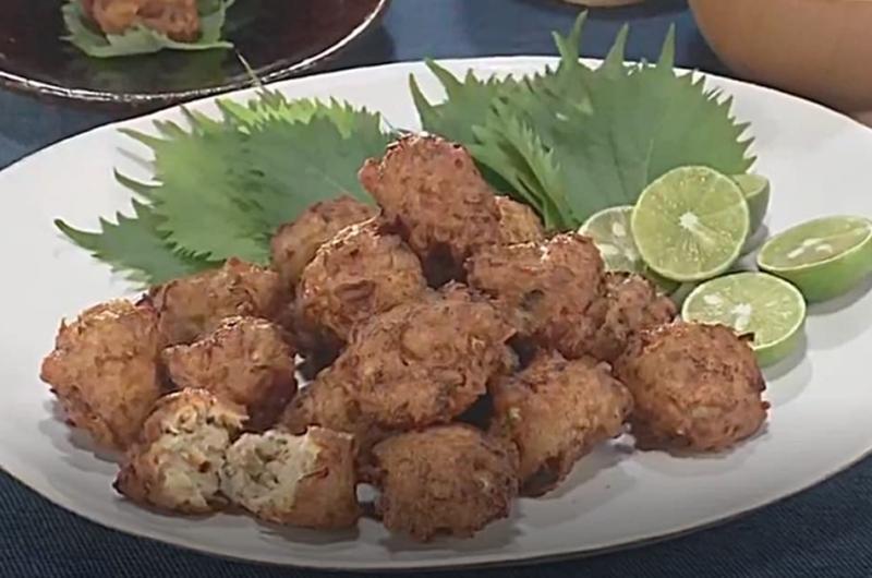 鶏ひき肉としめじのつまみ揚げ(ワタナベマキ)