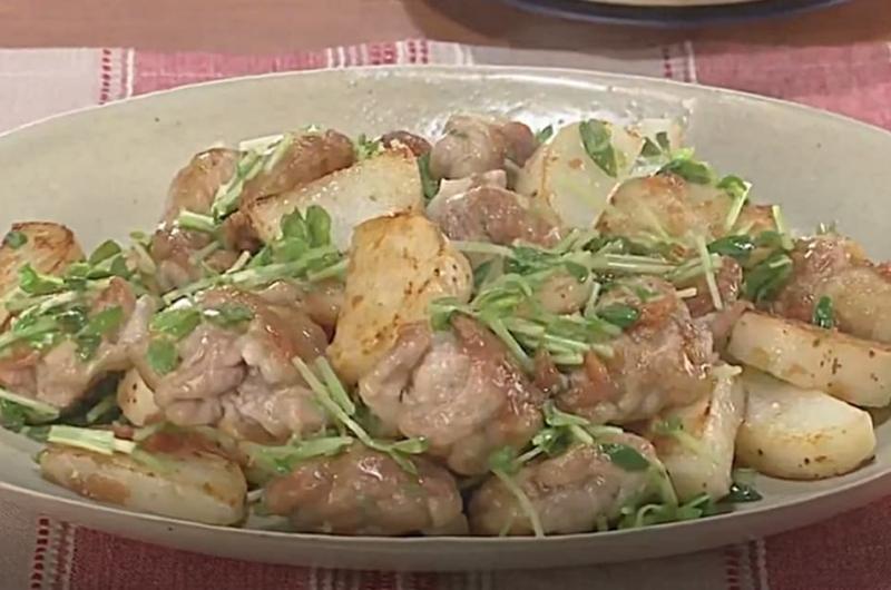 長芋と豚肉の梅肉炒め(ワタナベマキ)