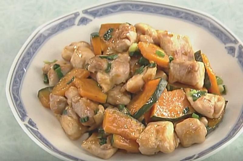 鶏とかぼちゃの炒めもの(石川智之)