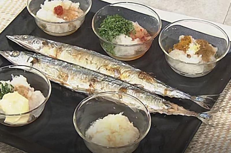 さんまの塩焼き・おろし5点(平野レミの早わざレシピ!2021秋)