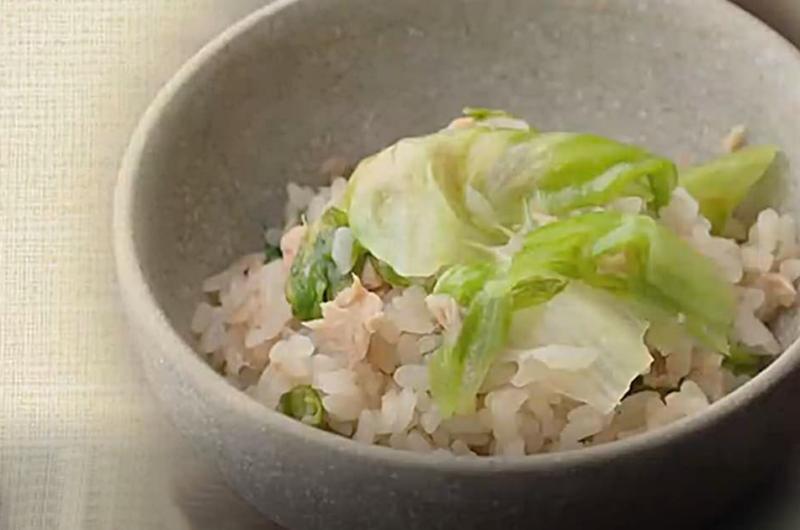 レタスご飯(思い出のまかない定食:佐々木浩)