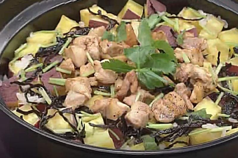 サツマイモの炊き込みご飯(笠原将弘のおかず道場)