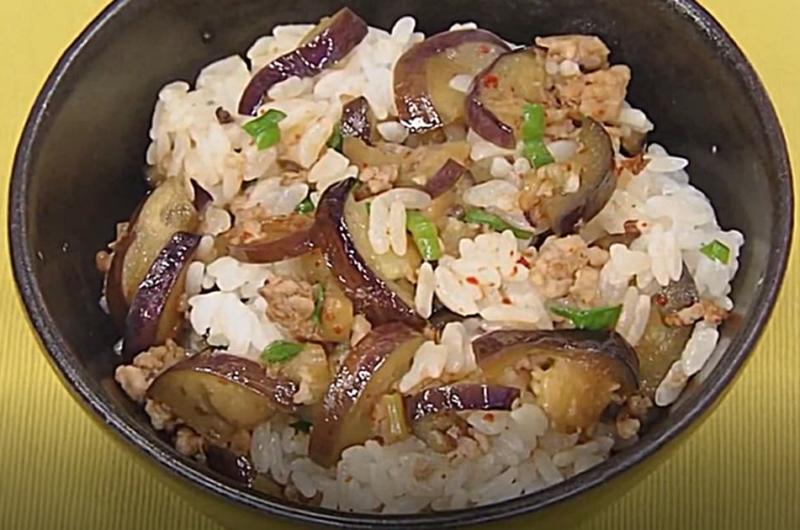 韓流なすご飯(レシピリレー「新米で混ぜご飯」重信初江)